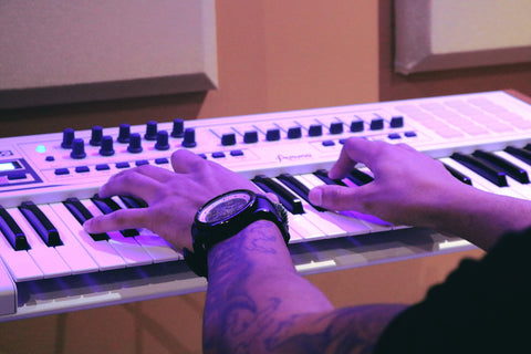 Man Playing Synth