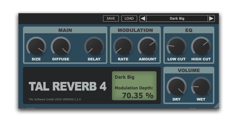 Tal Reverb 4 is the Best Free VST Plugin for vocals