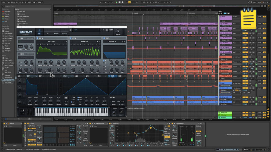Shot from tech house Ableton Project