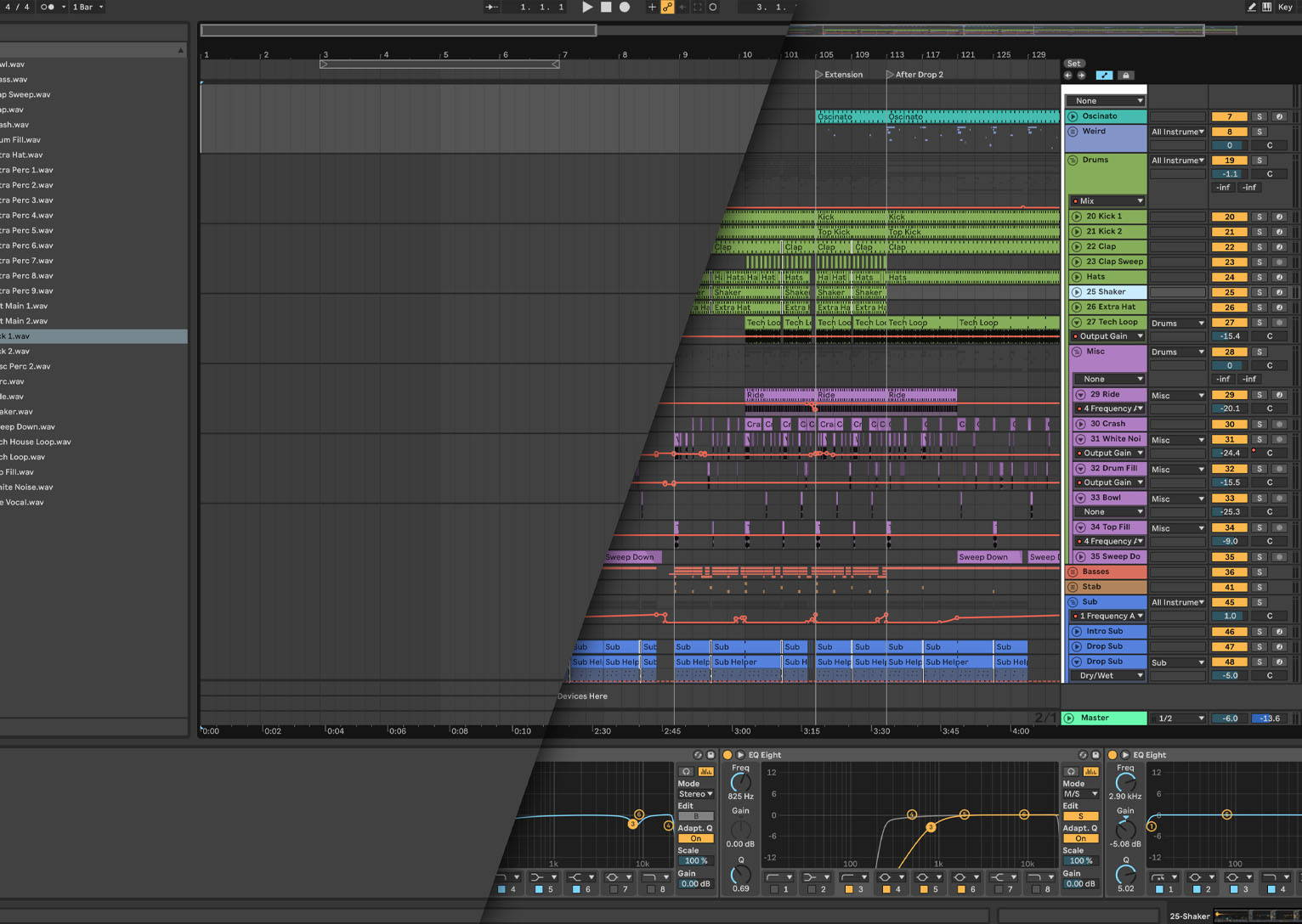 Ableton live before and after
