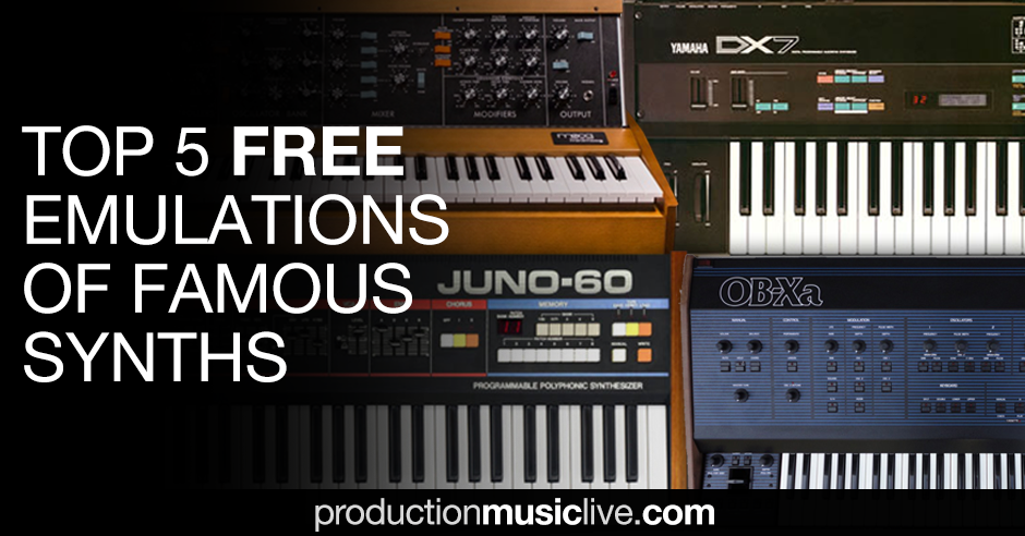 top 5 free synthesizers emulation of famous synths