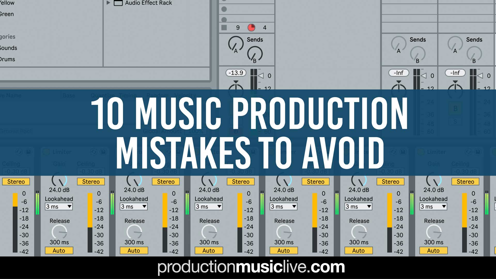 10 music production mistakes thumbnail