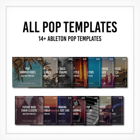 All Pop Templates - 15 Project Files