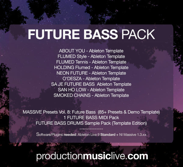 Future Bass BIG Pack - 8 Templates + Presets, MIDIs + Samples (save 40%)