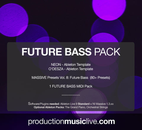 Future Bass Pack - 2 Templates & Massive Presets + MIDIs