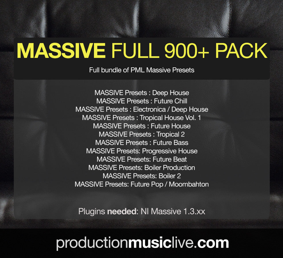 MASSIVE Presets FULL Pack (save 40%)