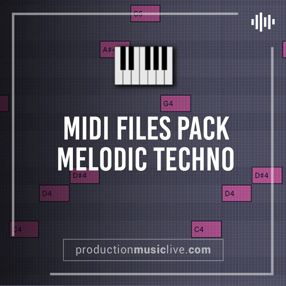 Melodic Techno MIDI Pack (Melodies, Arpeggios (Arps), Plucks and more)