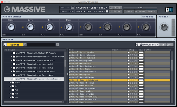 MASSIVE Presets: Progressive House