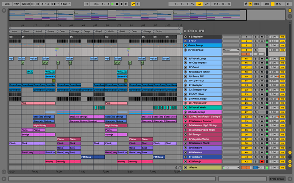 EDM Spinning it - Ableton Template