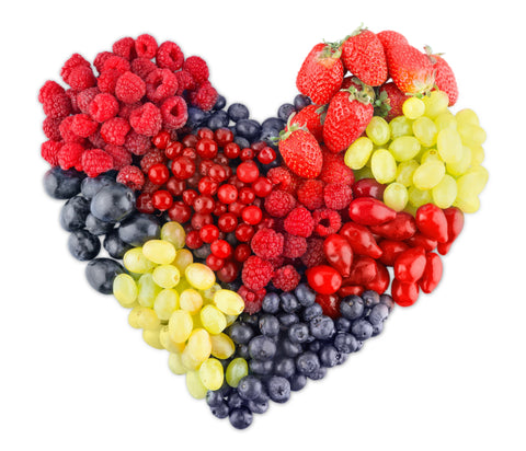 heart shaped fruit selection
