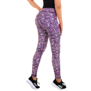 Women's Compression Leggings - Galaxy Red