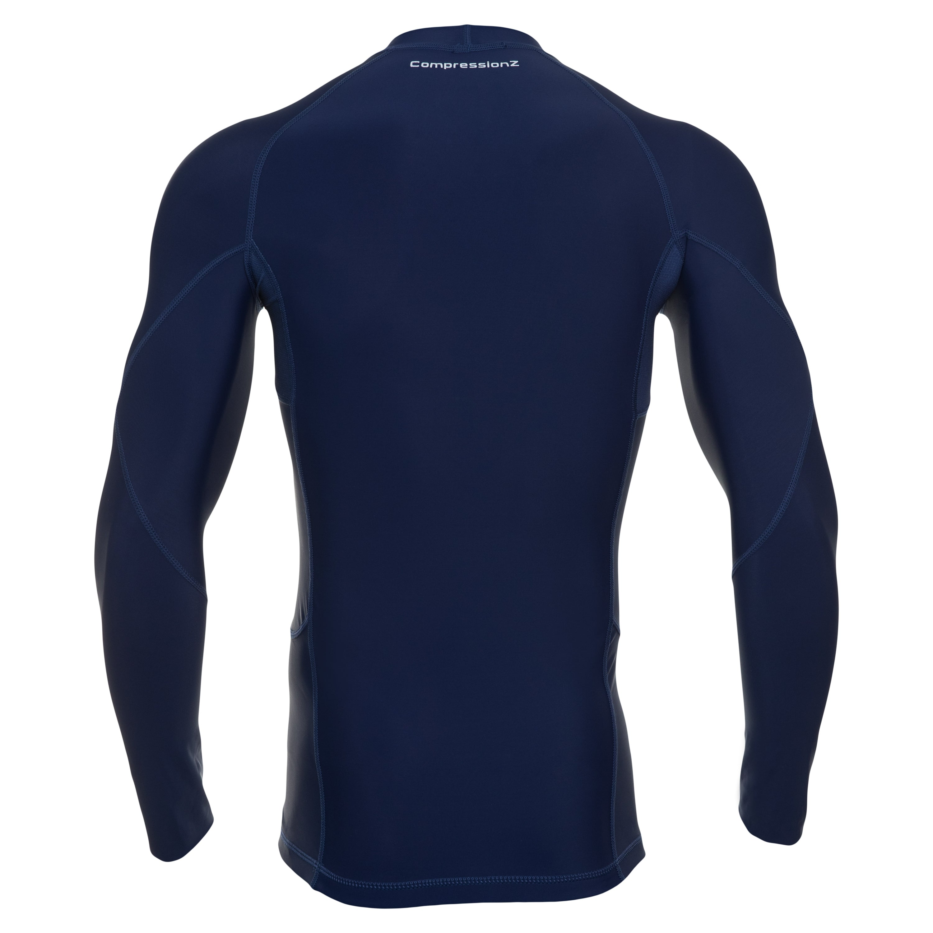 Men s Compression Long Sleeve Shirt - Navy Blue – CompressionZ 9856db6e643