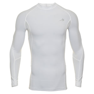 Men's Compression Long Sleeve Shirt - White