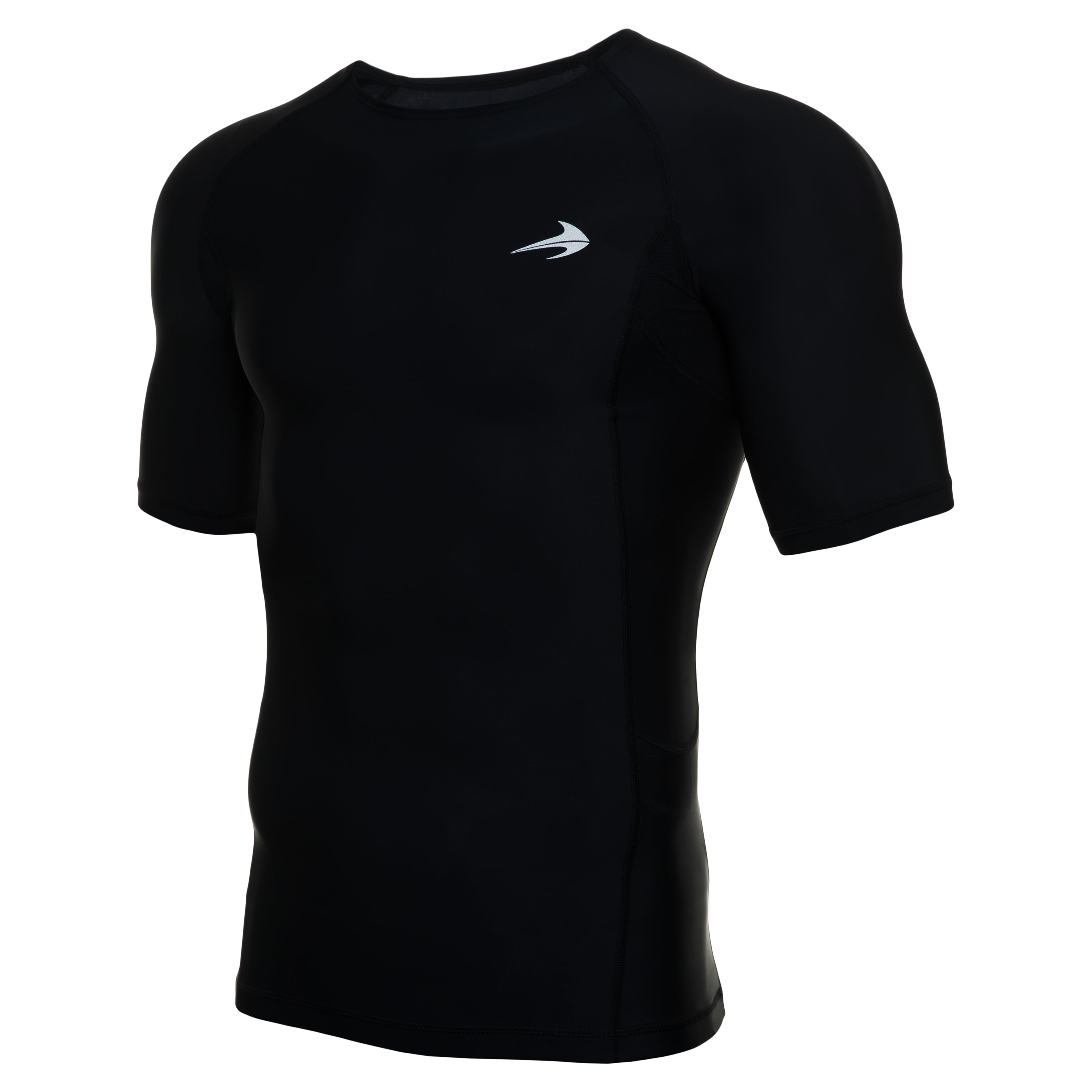 Men's Compression Short Sleeve Shirt - Black