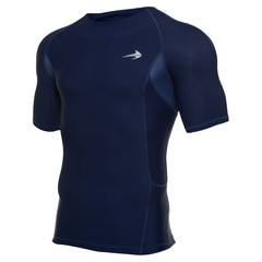 Men's Compression Short Sleeve Shirt - Navy Blue
