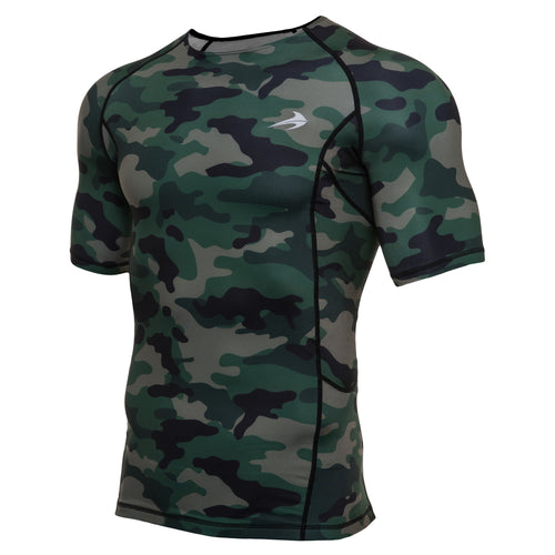 Men's Compression Short Sleeve Shirt - Camo