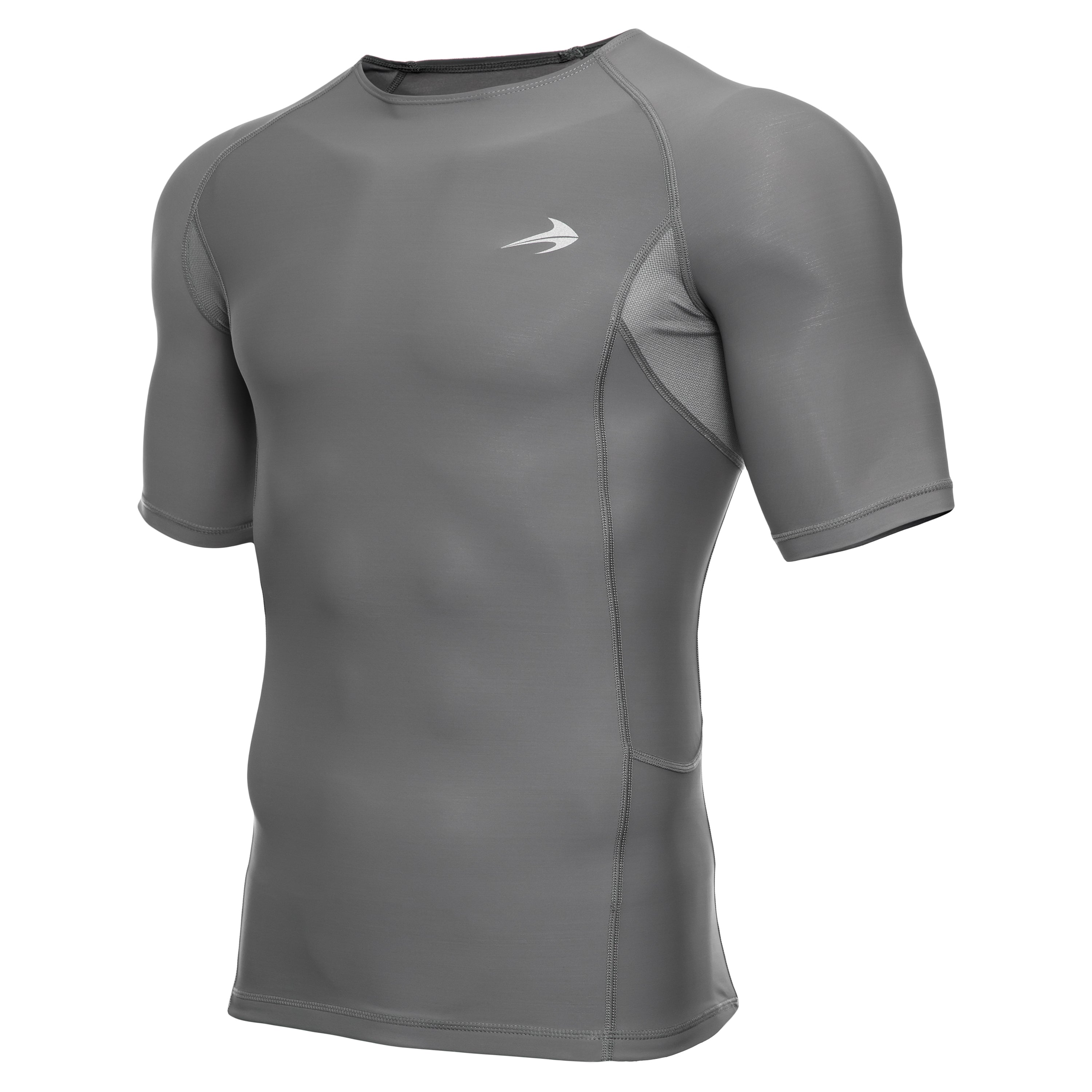 Men's Compression Short Sleeve Shirt - Dark Gray