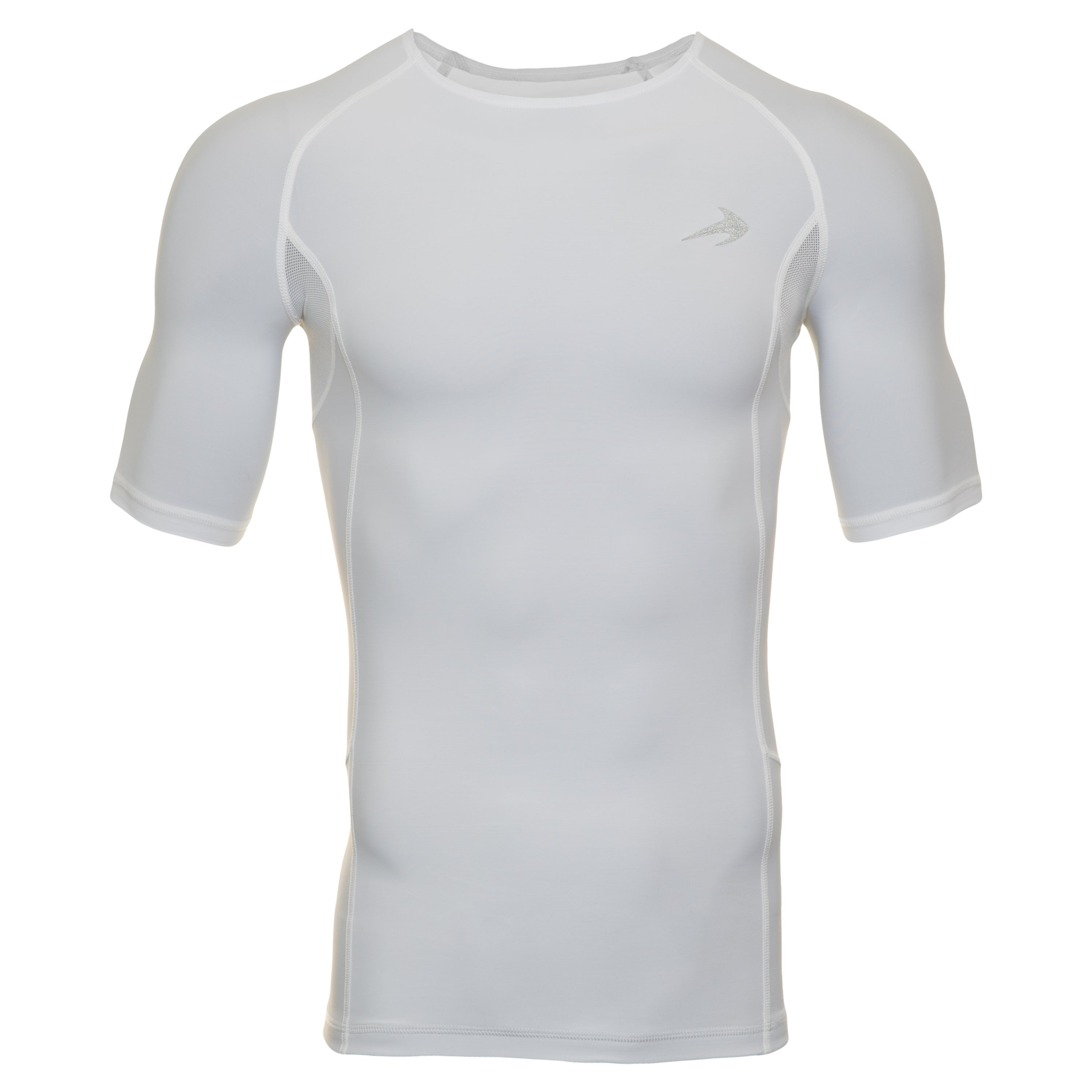 Men's Compression Short Sleeve Shirt - White