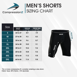 Men's Compression Shorts - Black