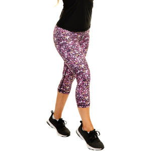 Women's Compression Capris - Galaxy Red