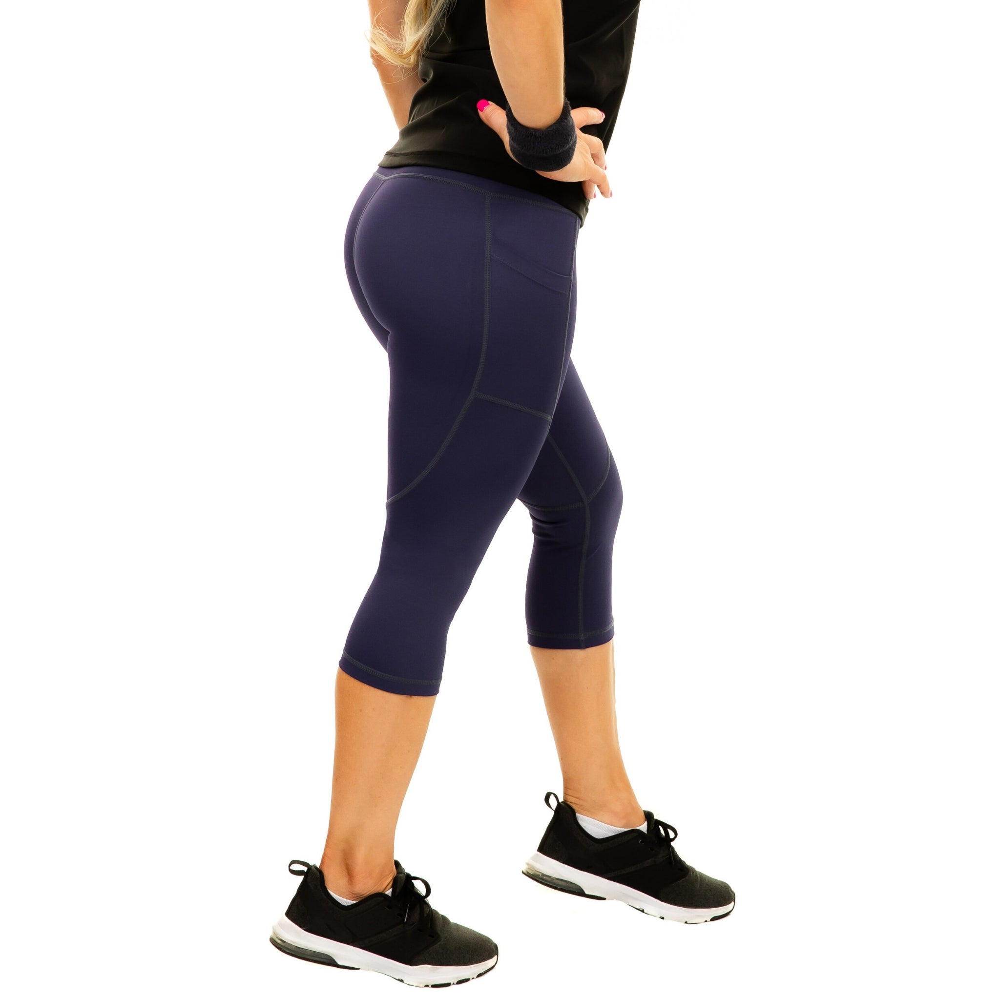 Women's Compression Capris - Purple