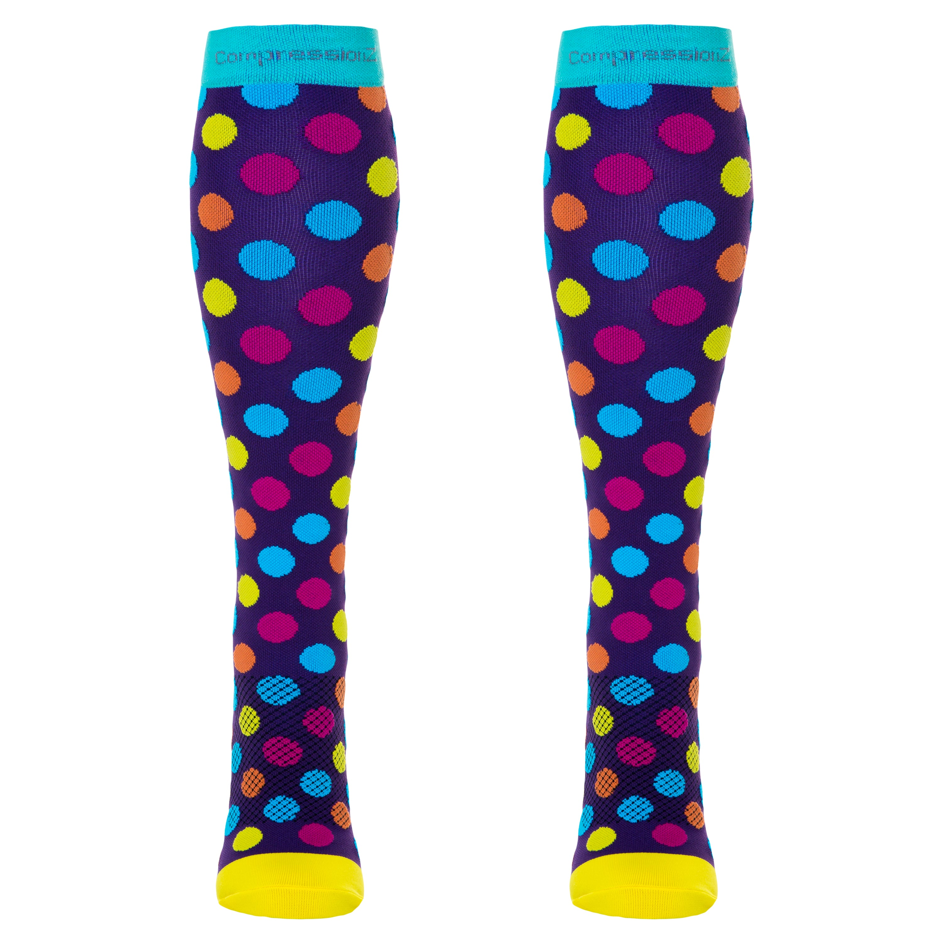 Compression Socks (Fun Patterns 20-30mmHg) - Urban Dots