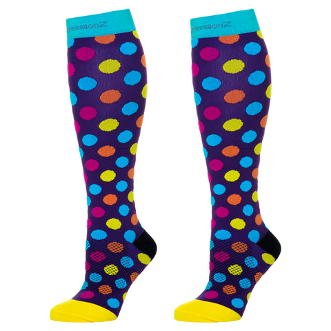 Compression Socks (Fun Patterns 20-30mmHg) - Rainbow Stripes