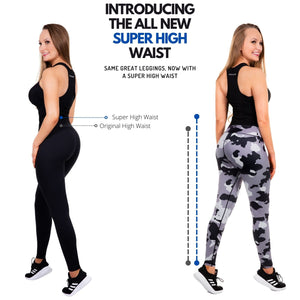 Women's Super High Waisted Compression Leggings - Black