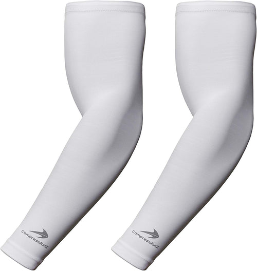 Youth Arm Sleeves - White