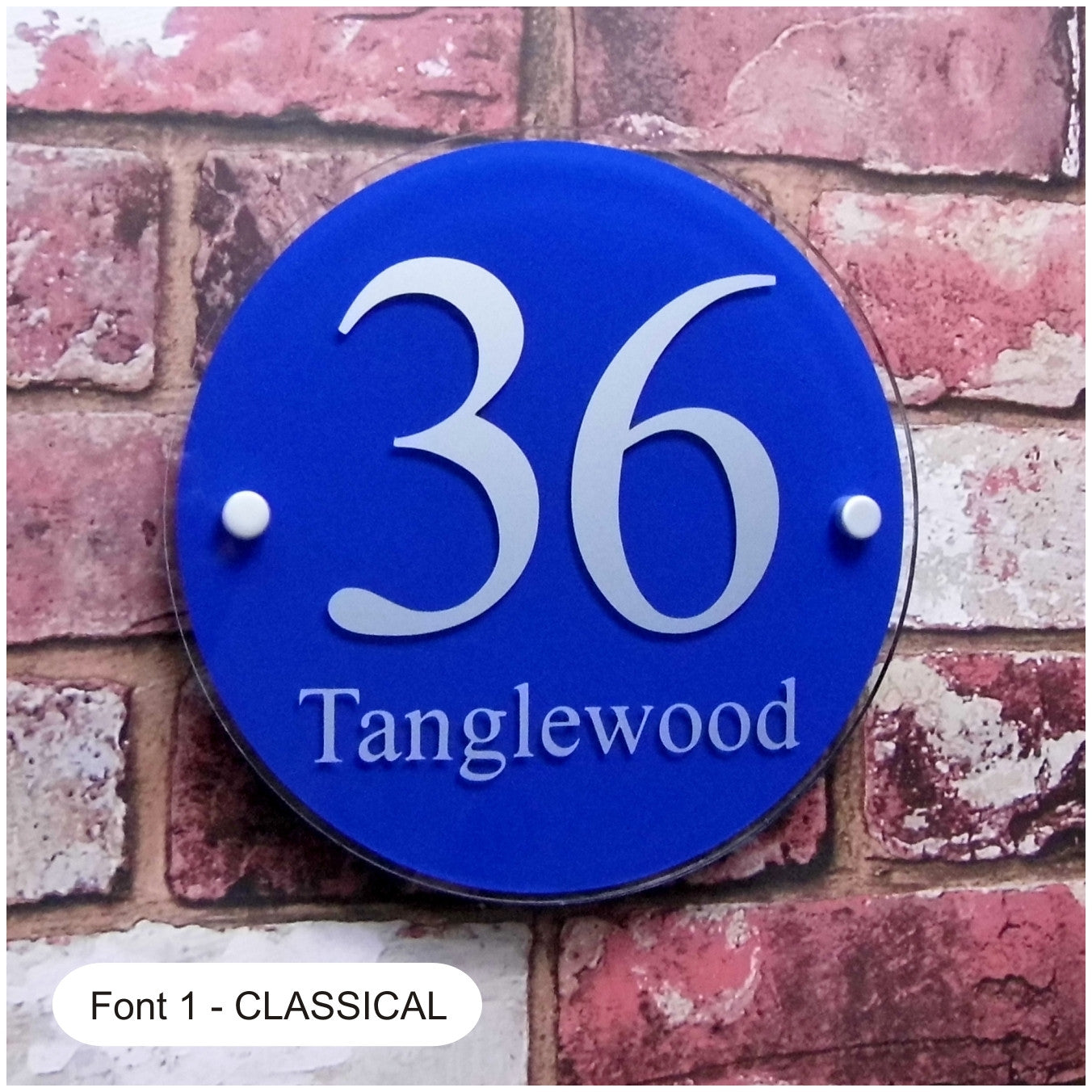 7451fdf64194 Large Round House Sign, Address Plaque or Door Number Plate - House Sign  Solutions