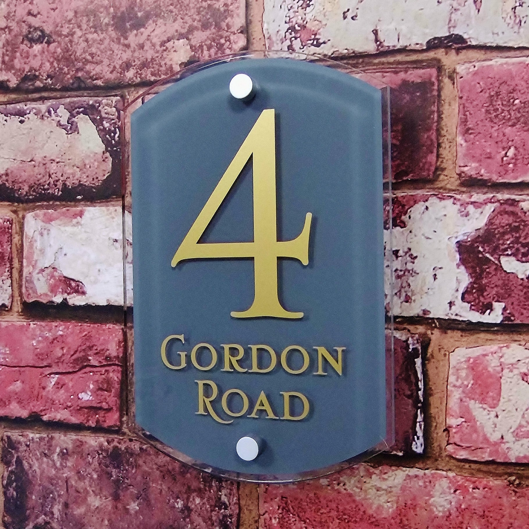 26c7c682b29b Modern House Number Sign or Address - House Sign Solutions