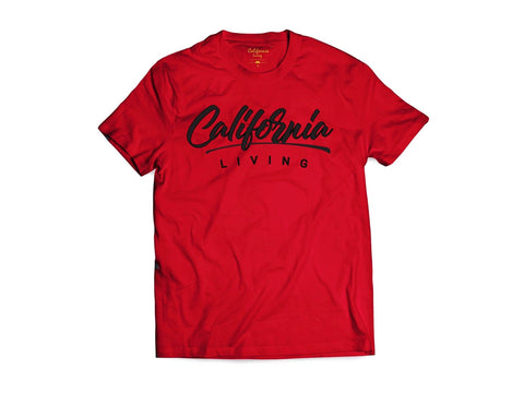 CL SCRIPT TEE IN RED