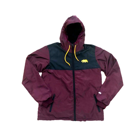 Burgundy & Gold Windbreaker