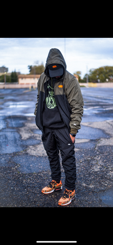 CL MILITIA GREEN WINDBREAKER