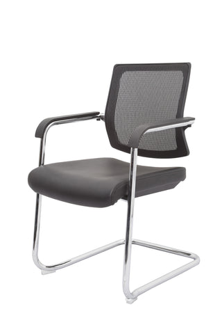 Cantilever chrome frame chair