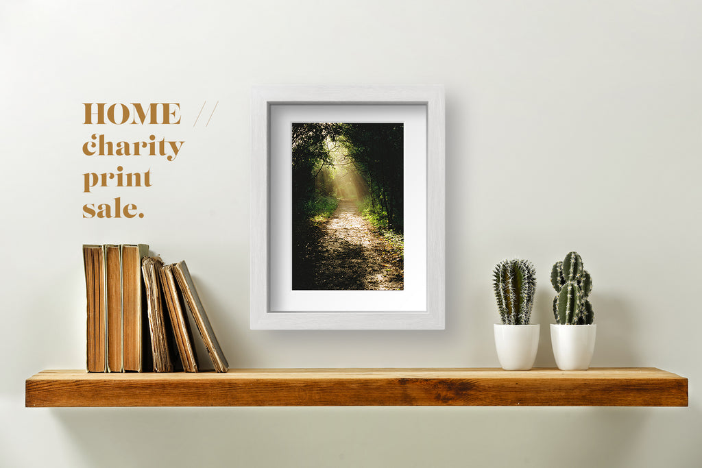 Framed photograph for HOME charity print sale