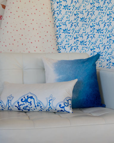 Qing cushion and Blue Ombre cushion