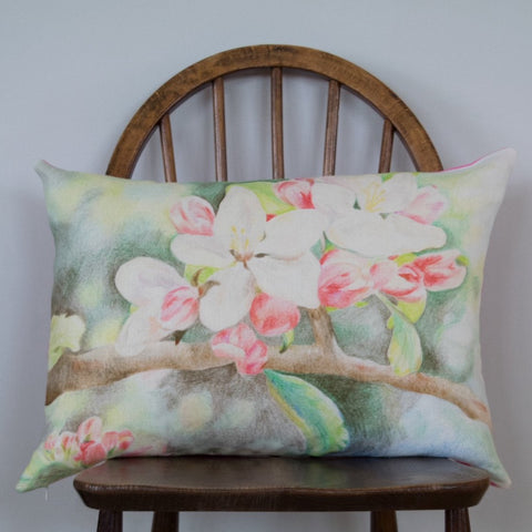 Large Apple Blossom Cushion