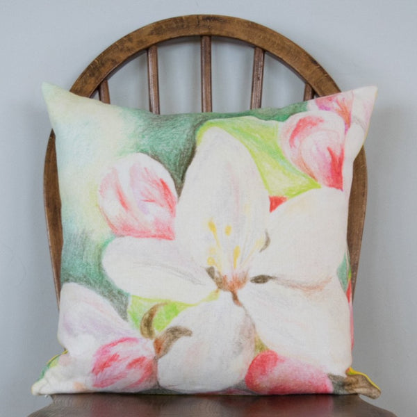 Apple Blossom Yellow Cushion