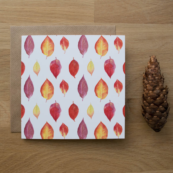 All Over Autumn Leaves Card Gift Set