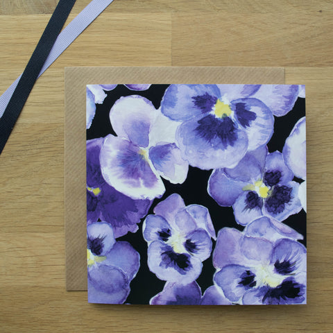 Big Pansy Card