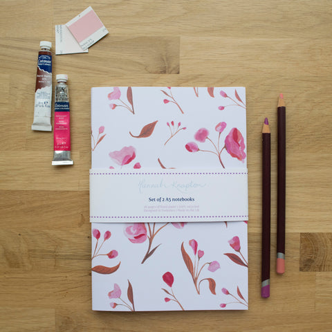 Blossom Set of Two A5 Notebooks