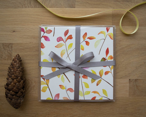 Bright Leaves Card Gift Set