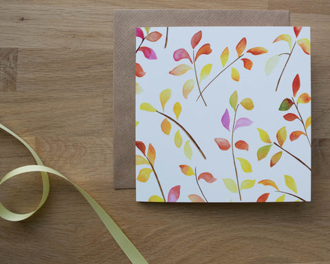 Bright Leaves Card