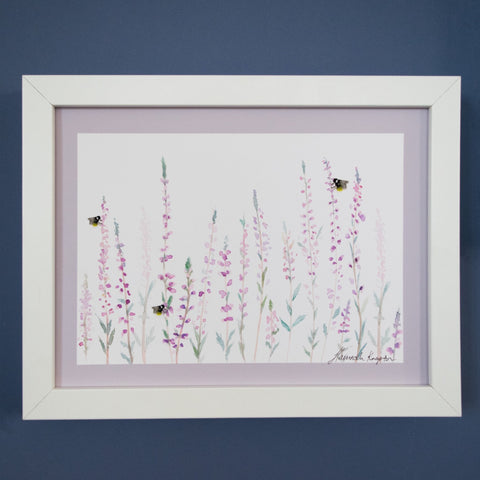 Small Heather and Bee Print