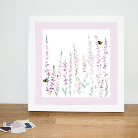 Heather and Bee Print
