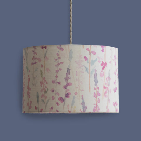 30cm heather print drum lampshade
