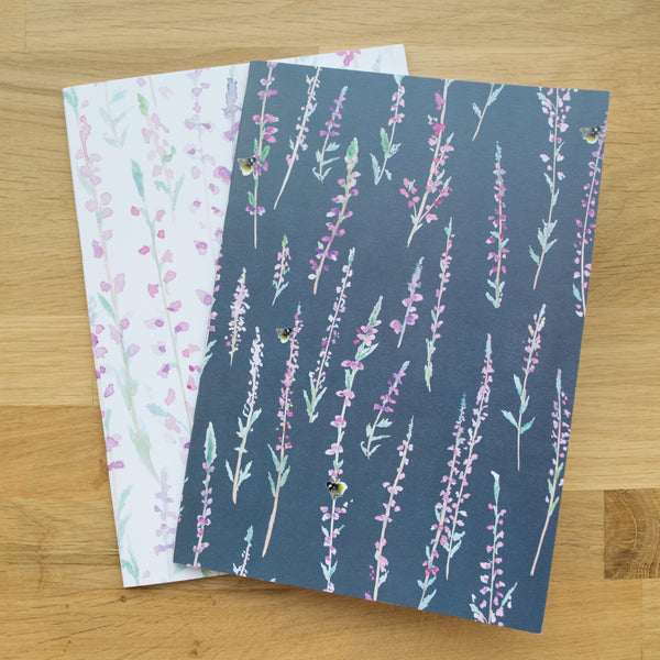Heather Set of Two A5 Notebooks