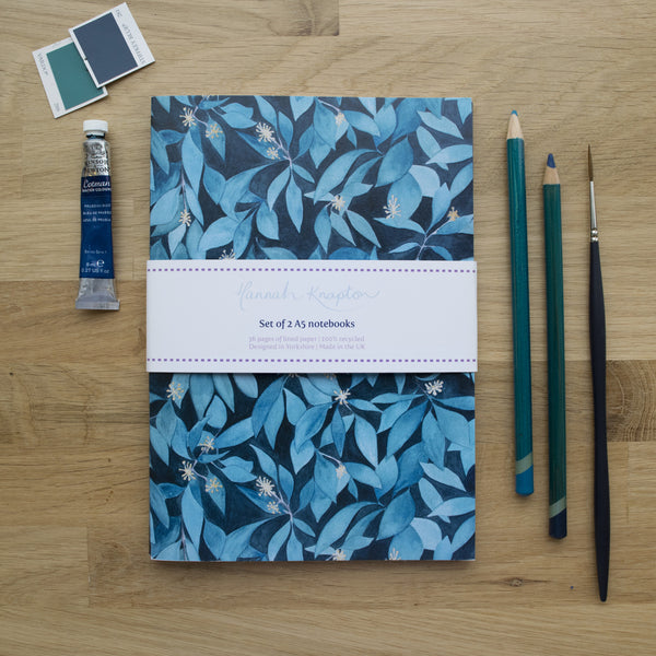 Ivy Set of Two A5 Notebooks