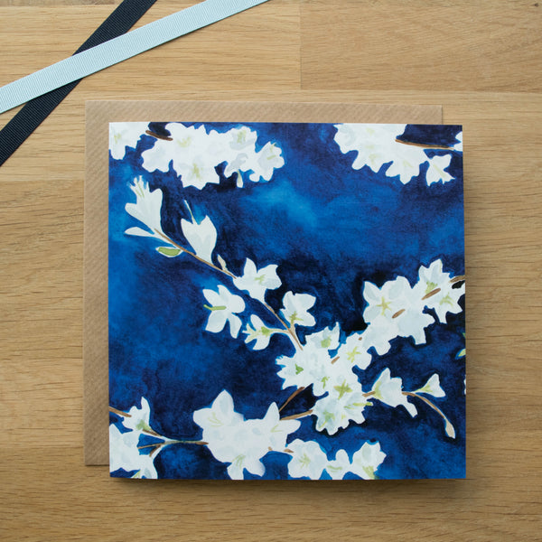 Large Midnight Blossom Card